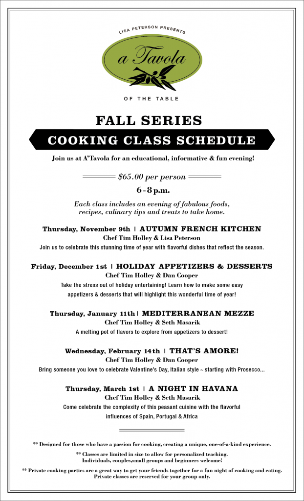 Boise Cooking Classes